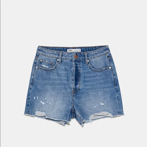 Zara ripped denim shorts. Size 0 (25)